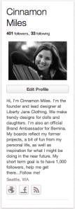 Cinnamon Miles Profile