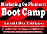 Marketing On Pinterest Bootcamp flyer top