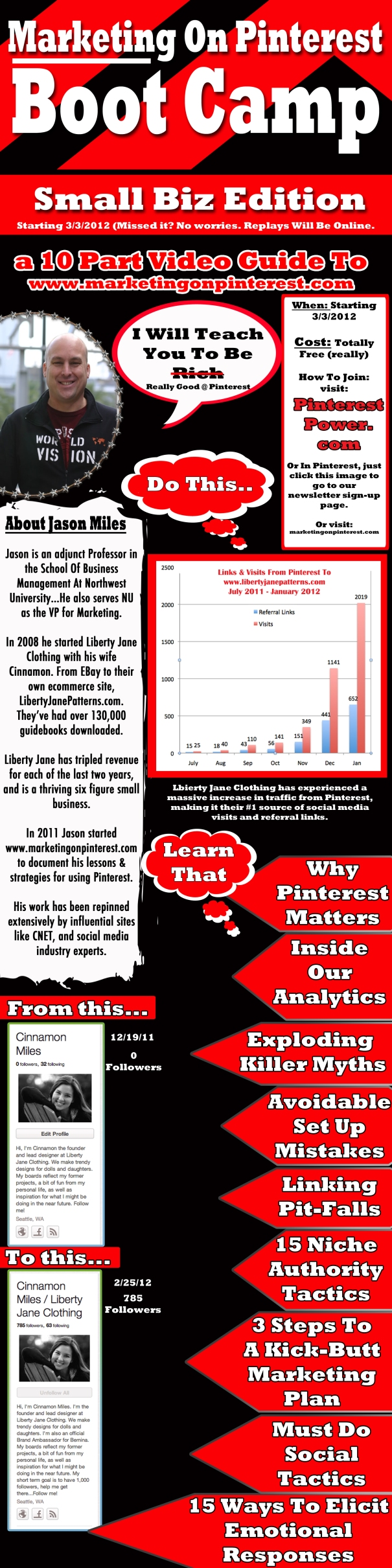 Marketing On Pinterest bootcamp flyer