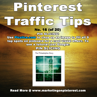 Pinterest Traffic Pin Slicing