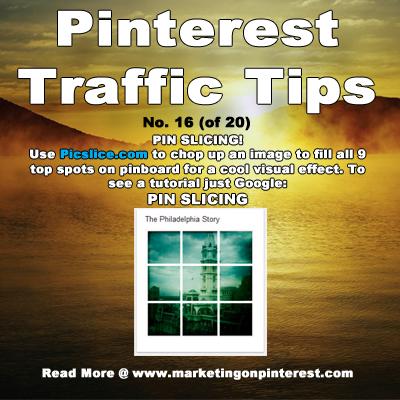 Pinterest Traffic Pin Slicing