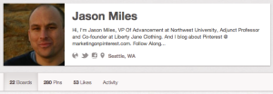 Pinterest landscape profile section