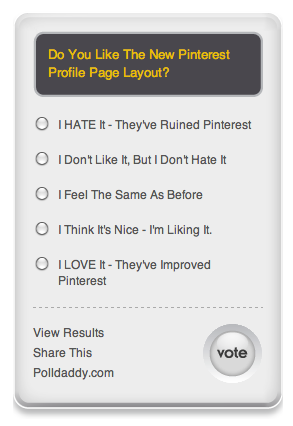 Pinterest poll