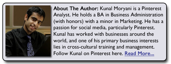 about Kunal Moryani Pinterest Analyst