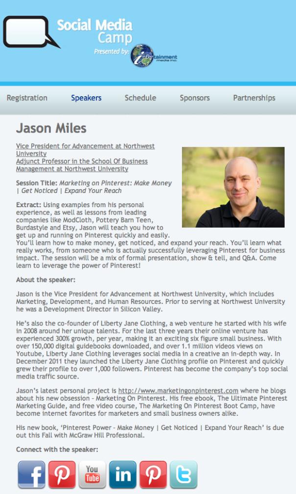Jason Miles Social Media Camp