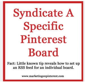syndicate a Pinterest board