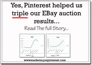 pinterest helped triple our EBay results