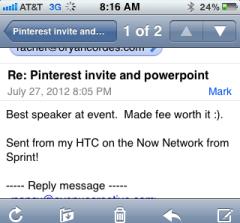 Pinterest workshop feedback