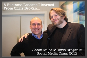 chris brogan and Jason Miles at Social Media Camp
