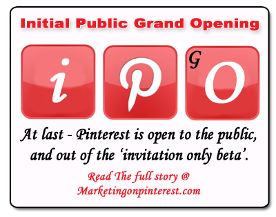 Pinterest initial public grand opening