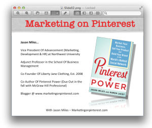 Presentation on Pinterest Marketing