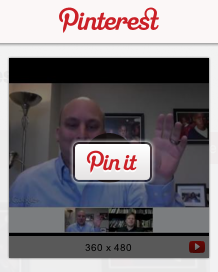 pinning a youtube video