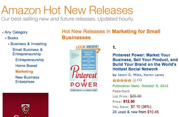 Pinterest Power 1 On Amazon For Hot New Releases In Marketing Books Marketing On Pinterest