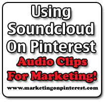 using soundcloud on Pinterest