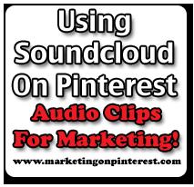 using soundcloud on Pinterest