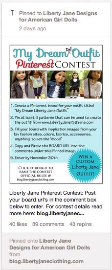 Pinterest Contest Example